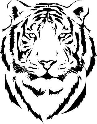 tiger head in black interpretation 2