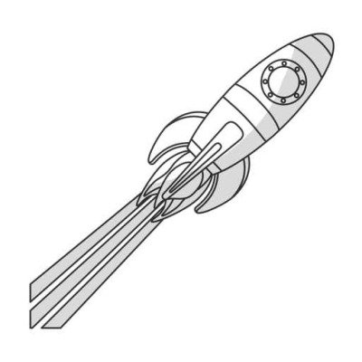 toy rocket icon image vector illustration design