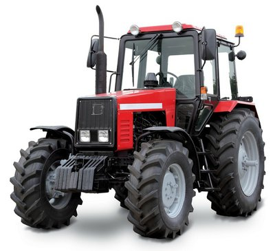 Tractor isolated on white background