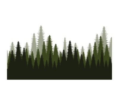 trees forest field icon vector illustration design