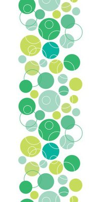 vector abstract green circles seamless pattern background