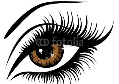 Vector illustration beautiful female brown eye