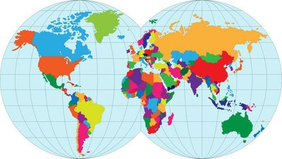 Vector illustration map of the World