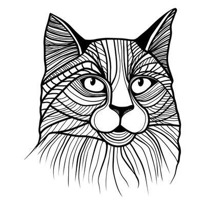 Vector illustration of cat head