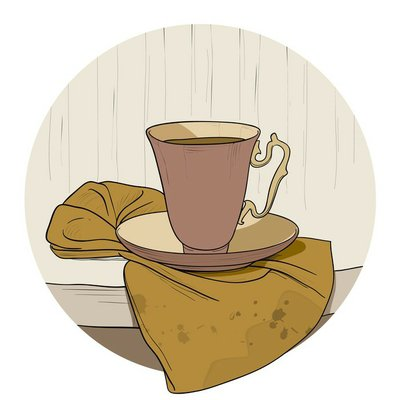Vintage coffee cup