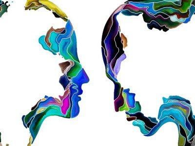 Virtual Self Fragmentation Wall Decal