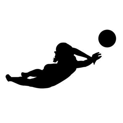 Volleyballerin Silhouette