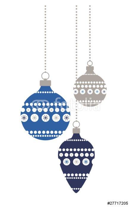 Weihnachtskugeln blau+silber