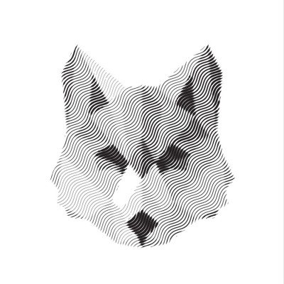 Wall Decal wolf engraved sign illyustrat vector animals