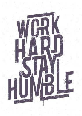 Work Hard Typography