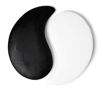 Yin-Yang symbol of stone texture, the sign of the two elements i