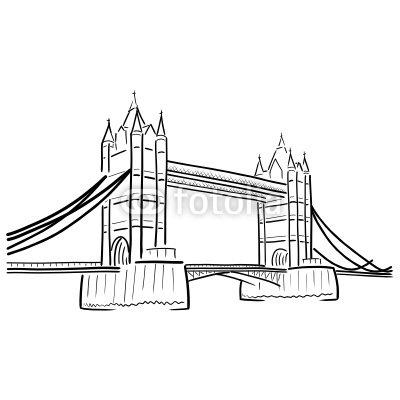 zeichnung tower bridge london I