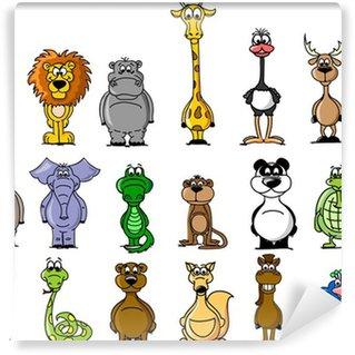 Большой набор различных животных мультфильма Wall Mural - Vinyl
