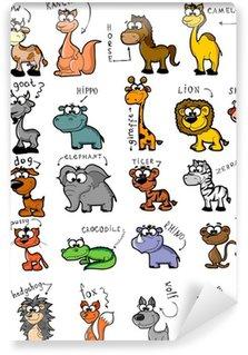Большой набор мультфильм животных Wall Mural - Vinyl