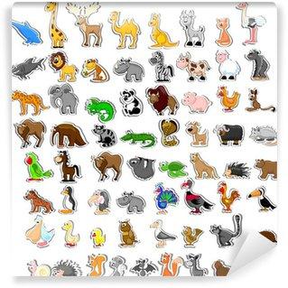 Большой набор животных Wall Mural - Vinyl