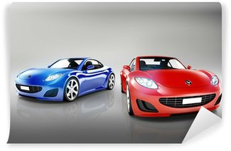 Wall Mural - Vinyl 3D Luxury Sports Car Set