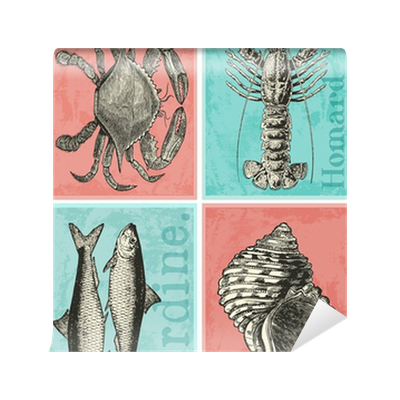 4 cartes postales wall mural pixers we live to change - Presentoir cartes postales mural ...