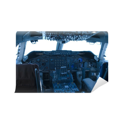 747 cockpit vinyl wall mural pixers we live to change for Cockpit wall mural