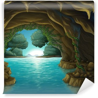 A cave and a water Wall Mural - Vinyl