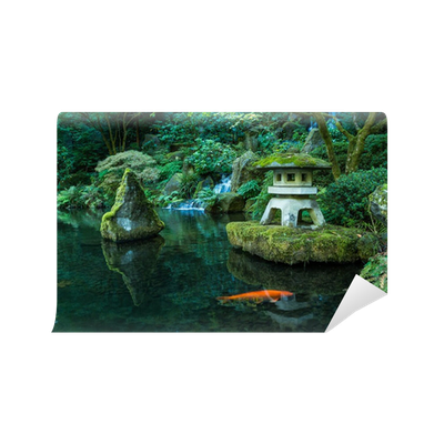 A lantern and waterfall in the portland japanese garden - Portland japanese garden free day ...