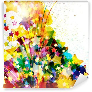 washable wall paintAbstract background forming by watercolor paint splashes Wall
