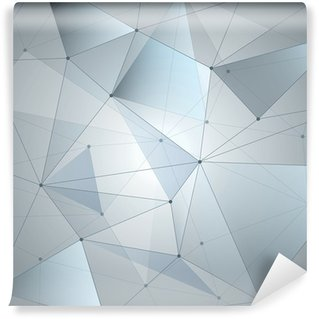 Abstract background, geometry, lines and points Wall Mural - Vinyl