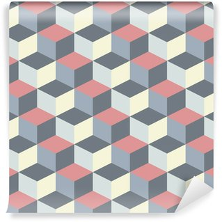 abstract cubic geometric pattern background Wall Mural - Vinyl