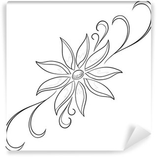 Abstract flower, contours Wall Mural - Vinyl