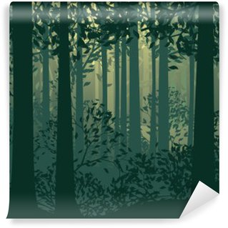 Abstract Forest Landscape Wall Mural - Vinyl