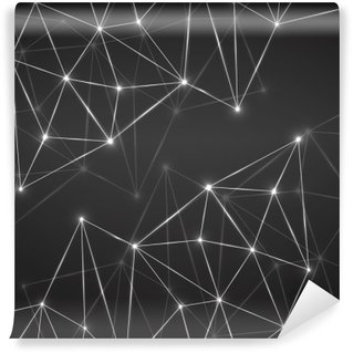 Abstract geometric background with connecting dots and lines. Modern technology concept. Polygonal structure Wall Mural - Vinyl