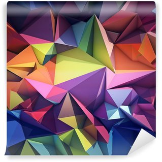 Abstract geometric background Wall Mural - Vinyl