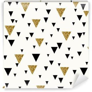 Abstract Geometric Seamless Pattern Wall Mural - Vinyl