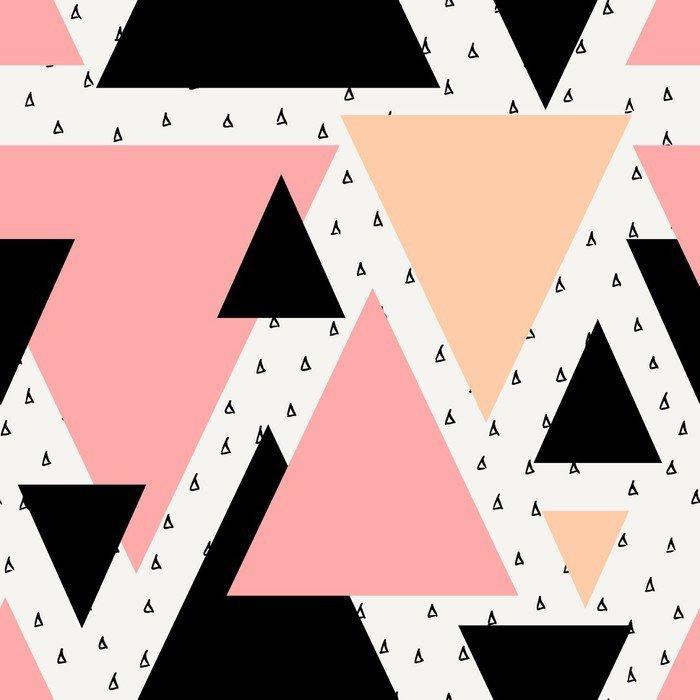Vinyl Wall Mural Abstract Geometric Seamless Pattern -