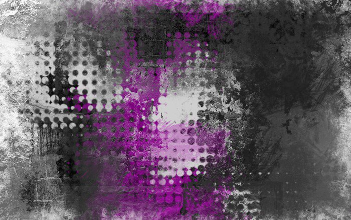 Vinyl Wall Mural Abstract grunge background with grey, white and purple - Industrial