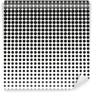 Abstract halftone. Black dots on white background. Halftone background. Vector halftone dots. halftone on white background. Background for design Wall Mural - Vinyl