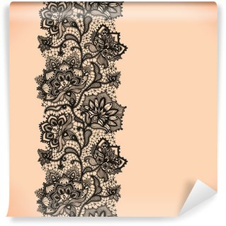 Wall Mural - Vinyl Abstract Lace Ribbon Vertical Seamless Pattern.