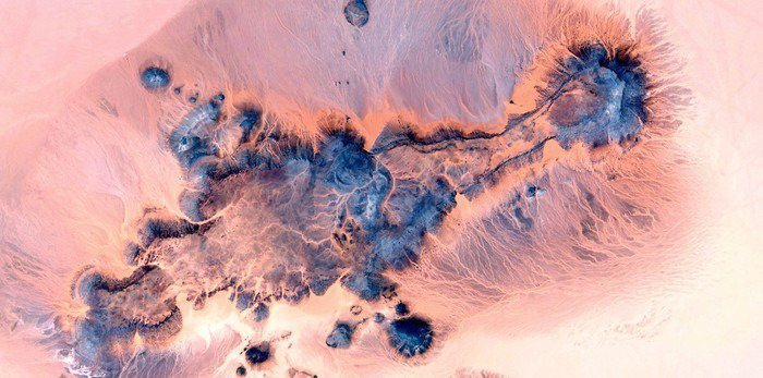 Vinyl Wall Mural abstract landscapes of deserts of Africa ,Abstract Naturalism,abstract photography deserts of Africa from the air,abstract surrealism,mirage in desert,abstract expressionism, - Landscapes