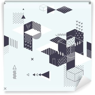 Wall Mural - Vinyl Abstract modern geometric background