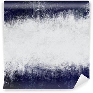 Wall Mural - Vinyl Abstract painted background in dark blue and white with empty space for text