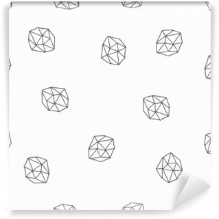 Vinyl Wall Mural Abstract Polygons Seamless Pattern