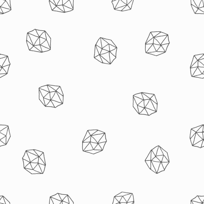 Vinyl Wall Mural Abstract Polygons Seamless Pattern - Graphic Resources