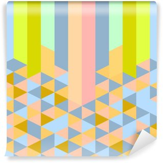abstract retro geometric pastel art deco style pattern Wall Mural - Vinyl
