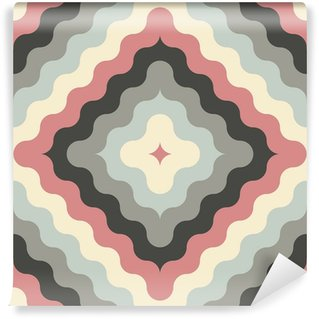 abstract retro geometric pattern Wall Mural - Vinyl