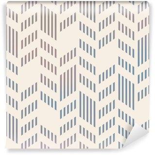 Wall Mural - Vinyl Abstract Seamless Geometric Vector Chevron Pattern. Mesh backgro