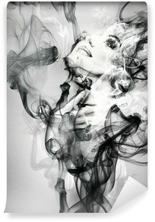 abstract woman portrait . watercolor illustration Wall Mural - Vinyl