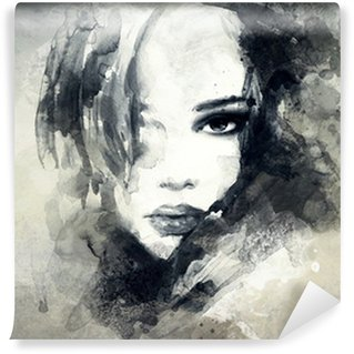 Wall Mural - Vinyl abstract woman portrait