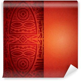 Wall Mural - Vinyl African art background for cover design.