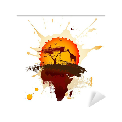 African sunset wall mural vinyl pixers we live to for African sunset wall mural