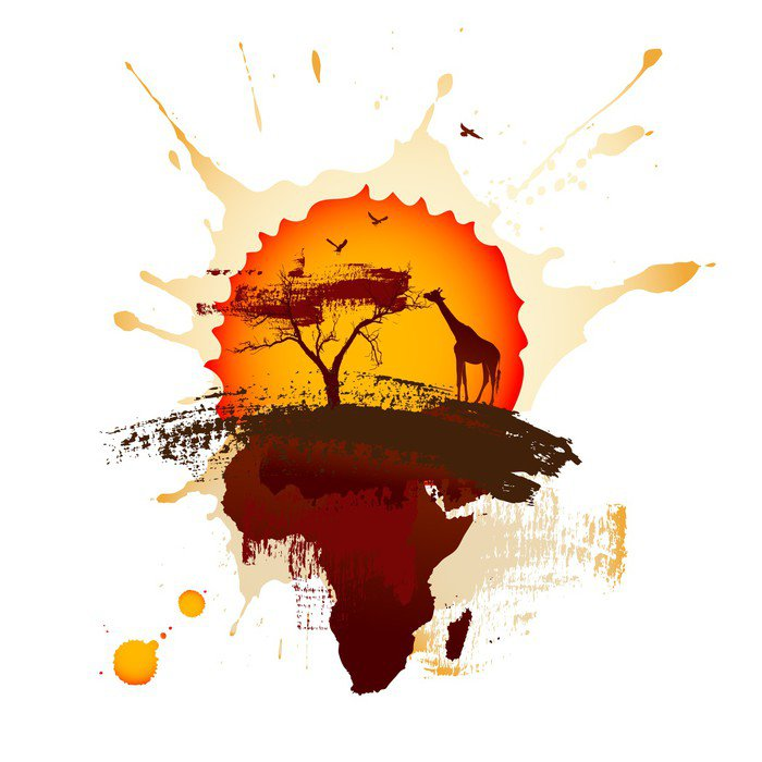 African sunset wall mural vinyl pixers we live to for African sunset wall mural