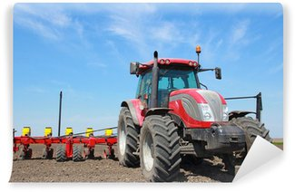 Vinyl Wall Mural Agricultural machinery, sowing